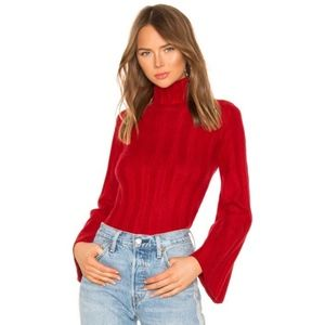 Lovers + Friends Red Taytay Turtleneck Sweater
